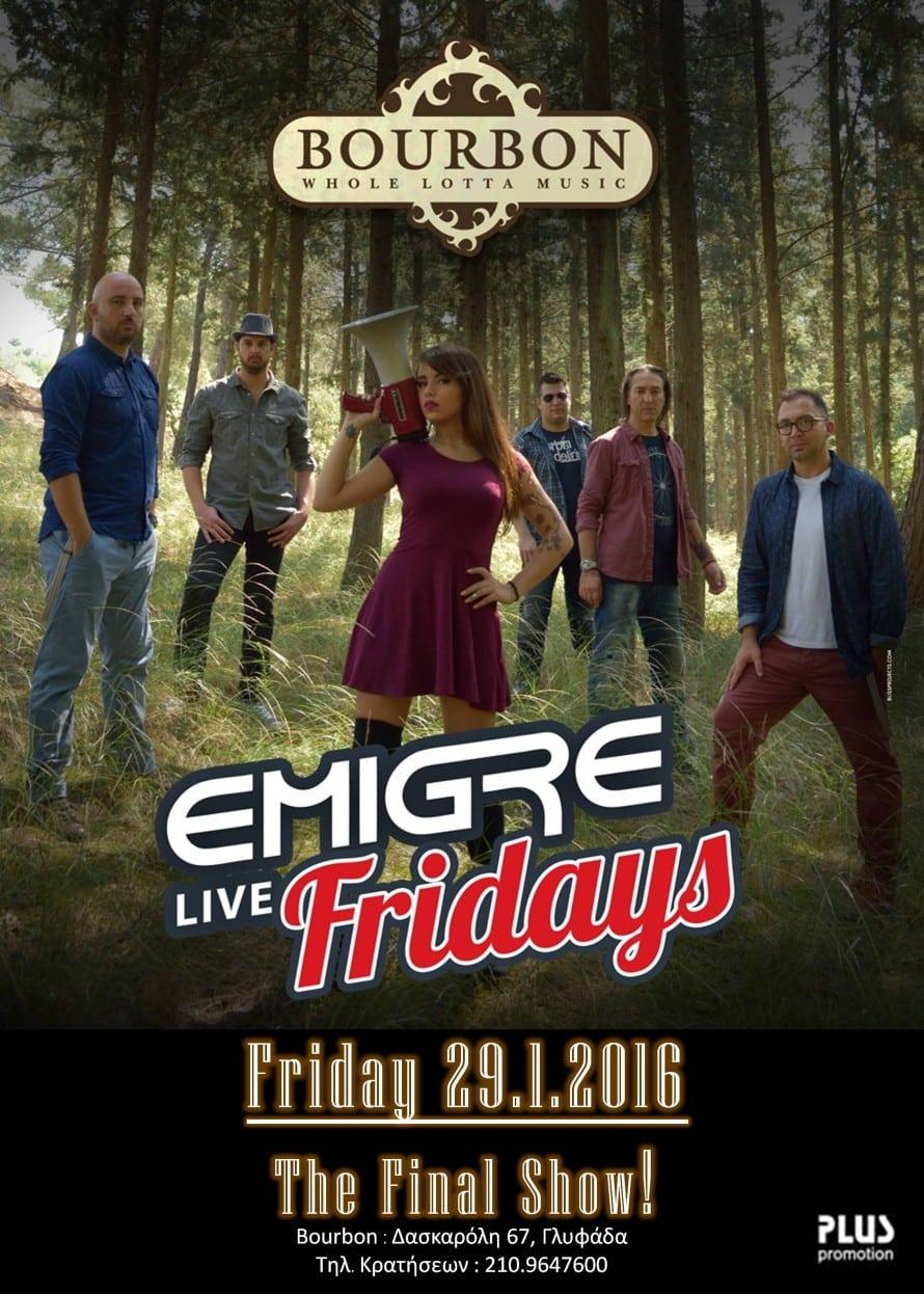 29.1 EMIGRE poster @ Bourbon (The Final Show) poster