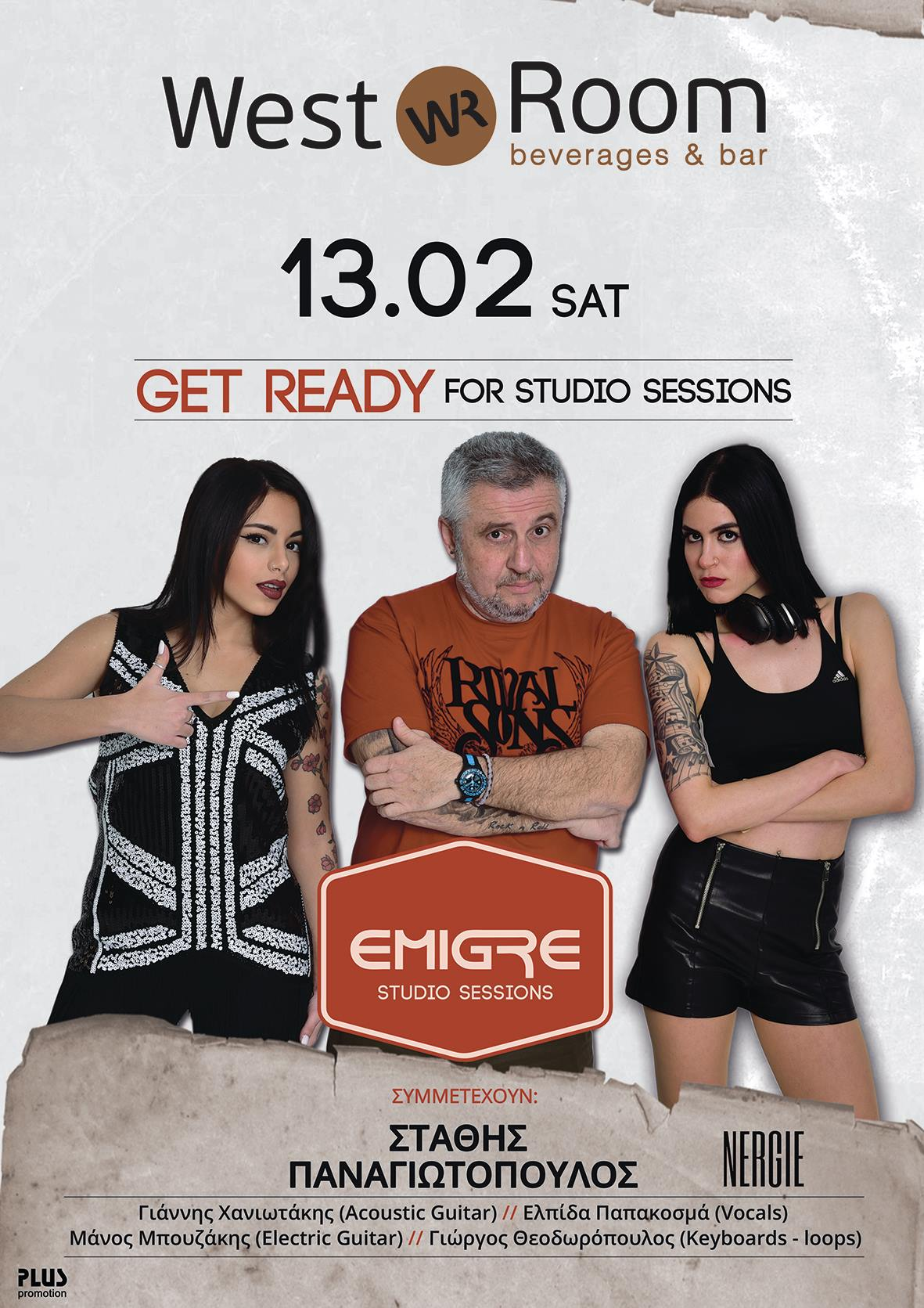 GET READY Studio Sessions @ West Room poster